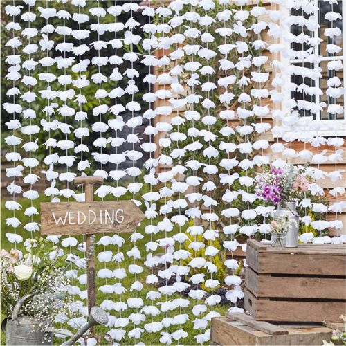 Rustic Country White Floral Backdrop (each)